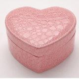 Joyería de moda Heart-Shaped Caja de almacenamiento de la colección de accesorios de cuero caso cosméticos