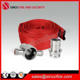 Manichetta antincendio rossa del rivestimento del PVC con gli accoppiamenti di standard delle BS
