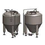 El equipo de la cervecería/la cerveza de barril hace la máquina