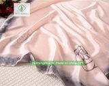 Nieuwe Dame Fashion Silk Satin Scarf met Roze Afgedrukte Sjaal