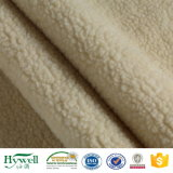 コートのジャケットのHoodieの寝袋のためののどの毛皮ファブリックSherpaの羊毛ファブリック