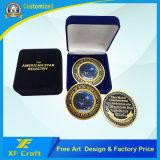 Profissional de Fábrica Personalizada banhado a ouro de Metal Loja Moeda com qualquer desenho (CO35-A)