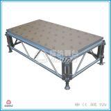 빨리 아크릴 유리 단계, 단계 장비, 알루미늄 이동할 수 있는 단계를 설치하십시오