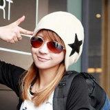 Мягкий стретч зимние трикотажные Slouch Hip-Pop Star вышивка теплый Beanie (HW136)
