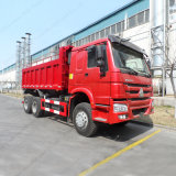 이디오피아를 위한 Sinotruk HOWO 6X4 빨간색 덤프 트럭