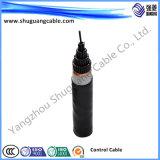 Yjvp 2 coeurs à gaine PVC avec isolation XLPE Blindage du câble d'alimentation