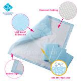 garnitures cotonneuses doucement pures élevées de bébé de confort d'absorption de 60*60cm