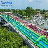 膨脹可能な二重車線水スライドか都市スライド