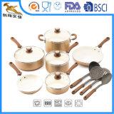 Cookware di ceramica e di titanio antiaderante di alluminio 14-Piece stabilito