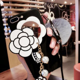 Случай мобильного телефона Tassel шерсти кролика с зеркалом на iPhone 7 7plus