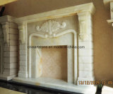 La Chine de la nature de marbre cheminée en pierre pour la décoration d'accueil