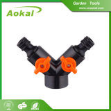 Divisore del tubo flessibile di giardino dell'acqua di modo del divisore 3 del tubo di Y