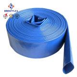 青く軽い農業の灌漑用水の排出PVC Layflatホース4bar