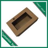 Caja de cartón caliente de la venta con la ventana del PVC