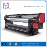 Rodillo de la buena calidad los 3.2m para rodar la impresora de aluminio de la bandera de inyección de tinta de la cabeza de impresora ULTRAVIOLETA de la impresora Withgen5 para la venta Mt-Softfilm3207-UV