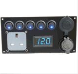 motor vermelho do painel do interruptor de 12V Campervan