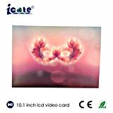 Muy buen diseño de la pantalla LCD de 10,1 pulgadas de Vídeo Digital catálogo de regalos/Negocio/invitación