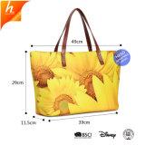 Custom цветочным рисунком печать Сумка почтальона для колледжа женская сумка с молнией
