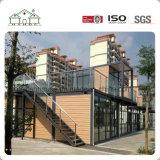 Casa prefabricada de China Panelized de la casa modular del envase con la azotea y el balcón modificados para requisitos particulares