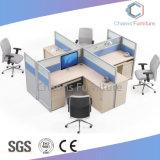 Stazione di lavoro diritta bianca dell'ufficio della Tabella del divisorio blu popolare con il Governo di caduta (CAS-W31425)