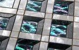 Azulejo de mosaico de cristal del nuevo del diseño 2017 del shell mármol nacarado de la mezcla 300*300m m