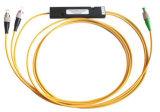 1X2, pm PLC Splitter de fibra óptica a bajo precio con caja de plástico ABS