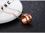 Namen de Kunstmatige Toebehoren van de Manier van de douane de Gouden Geplateerde CirkelHalsband van het Roestvrij staal voor Vrouwen toe
