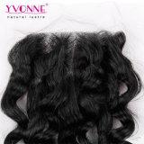 Закрытия верхней части шнурка человеческих волос Yvonne скручиваемость бразильского итальянская