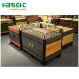 Almacén de madera Frutas Verduras Mostrar soportes para supermercado