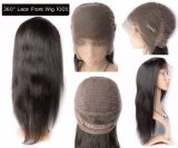 Glücks-Haar-Großverkauf-Menschenhaar-Karosserien-Welle 360 Grad-Spitze-Vorderseite-Perücke