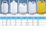 barilotto di plastica dell'HDPE 2000g per alimento, medicina solida ed il prodotto chimico