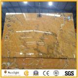 高品質の背景の壁のためのオレンジオニックス大理石の平板