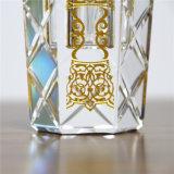Più nuova bottiglia di profumo vuota di cristallo riutilizzabile di Jingyage con la protezione e le sculture nere rotonde