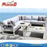 Qualitäts-im Freien bequemes Gewebe gepolsterte Aluminiumsofa-Stuhl-Schnittmöbel