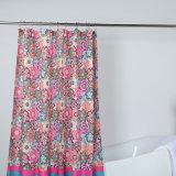 Tecido de poliéster grossista de fábrica na China a cortina do chuveiro com ilhoses