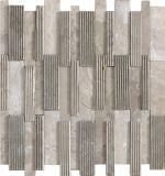 Marmorsteinmosaik-Fliese des Streifen-3D für Innenarchitektur
