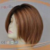 Peluca corta de la tapa de la piel del pelo humano (PPG-l-01431)