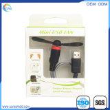Mini ventilateur gauche de remplissage micro d'USB personnalisé par qualité
