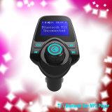 T11 coche manos libres Bluetooth el transmisor FM MP3 con doble USB CARGADOR