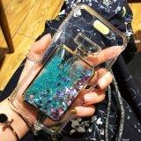 iPhone 7을%s 호화스러운 반짝임 별 액체 뒤 전화 상자 덮개
