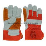 Couper les gants fonctionnants protecteurs résistants de main de cuir fendu de vache à sûreté