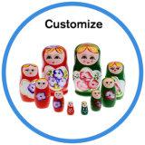Bambola russa di legno di ceramica classica su ordinazione di incastramento di Matryoshka