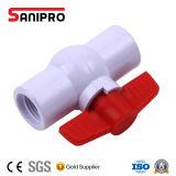 PVC matériel neuf de robinet à tournant sphérique de divers traitement en plastique fabriqué en Chine