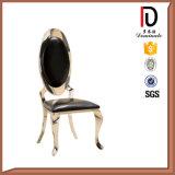 Salle à manger moderne de luxe chaise en acier inoxydable