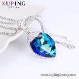 44330 azul de la moda de lujo en forma de corazón de cristal colgante de joyería Swarovski Elements Joyas