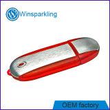Memoria Flash rossa del USB con l'anello portachiavi