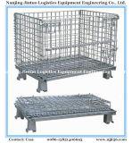 Fil d'acier plié empilés Cage de conteneur de stockage de palettes de maillage Palette Boîte Panier conteneur