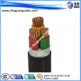PVC 절연제와 칼집 조종 케이블