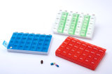 7 Dias o organizador da pílula pílula plástico Semanal Caixa com 14 compartimentos