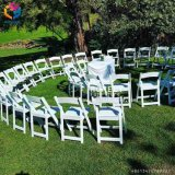 Presidenza di piegatura bianca della resina di cerimonia nuziale Hly-RS051